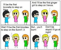Redhead brunette and blonde jokes