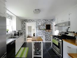 wallpaper in neutral hues is more apt for contemporary kitchens design e r miller