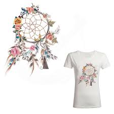 Dream Catcher Shirt Diy Beautiful Dreamcatcher iron on patches 100100cm Diy T shirt hoodie 30