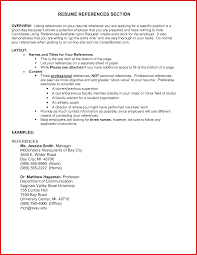 Where To Put References On A Resume How To Put References In Free
