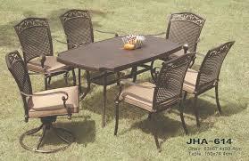 cast aluminum outdoor dining set