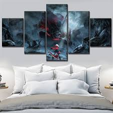 Rage Design Painting Us 3 22 53 Off Game Painting Canvas Hd Printed Wall Picture Home Decorative Framework 5 Pieces God Eater 2 Rage Burst Vita Game Poster In Painting