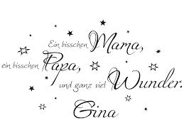 Wandtattoo Ein Bisschen Mama Ein Bisschen Papa Und Ganz Viel Wunder No2