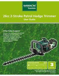 gardenline hedge trimmer user manual