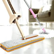 wooden floor mop double sided non hand washing flat mop wooden floor mop dust push mop