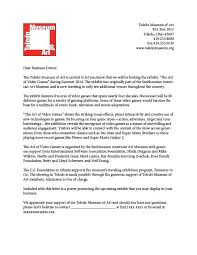 Solicitation Latter Business Solicitation Letter Museum Of Art Appreciate Your