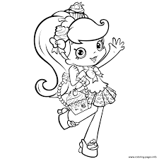 Print Shopkins Girl Shoppie Say Hi Coloring Pages Sewyou Can