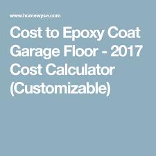 cost to coat garage floor 2017