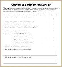 Free Survey Template Word Satisfaction Survey Template