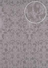 Barok Behang Atlas Cla 600 7 Vliesbehang Gestempeld Met Ornamenten