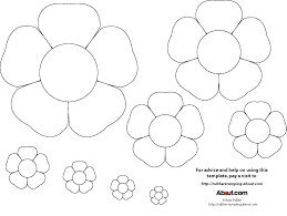 Paper Flower Print Out Flower Patterns Printable Flowers Healthy