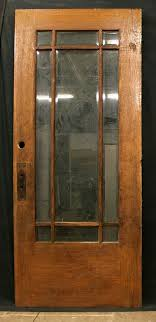 old wooden door with glass panels designs