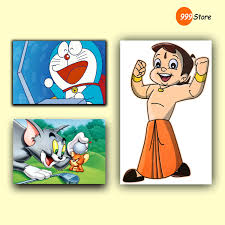Small Picture Buy Multiple Frames Famous Cartoon Characters Canvas Printed Wall