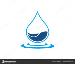 Water Drops Template Water Drop Logo Template Vector Illustration Design Stock Vector