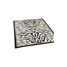 wildlife zebra black white rug