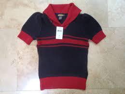 nwt ralph lauren rugby red blue cotton linen short sleeve sweater small