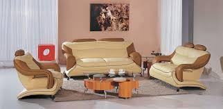 beige furniture. 7055 modern beige and brown leather living room set furniture