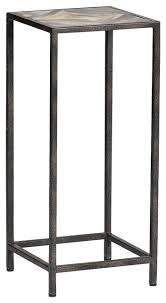 unique tall side tables at arthur rustic horn inlay end table traditional