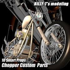 chopper bike custom parts poser daz billy t