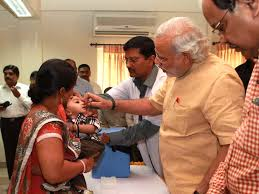 chief minister at helm of pulse polio campaign in gujarat