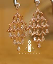 long crystal chandelier golden champagne teardrop chandelier earrings