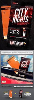 Parking Ticket Flyers Graphics Designs Template