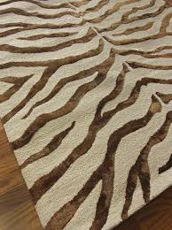 nuloom earth zebra print with faux silk highlights rug