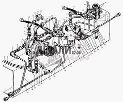 Трубопроводы к тормозным кранам МАЗ 5335 121