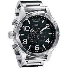 mens nixon watch new authentic nixon watch 51 30 chrono silver black a083 000 a083000