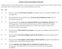 Creating An Easy Useful Flexible Work Proposal Form Flexjobs
