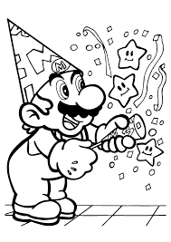 Small Picture Coloring Pages Mario Bros Kids Coloring 4 boys Pinterest