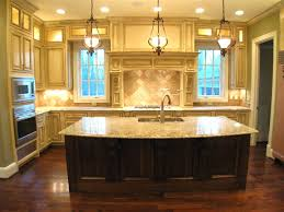 Elegant Kitchen Island Design Feature Rustic Wood Kitchen Island