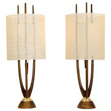pair of mid century table lamps modeline at 1stdibs inside lamp designs 18