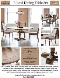dining room chair fabric ideas beautiful chaumont round table pedestal 120cm with 4 chaumont dining chairs