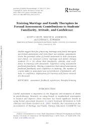 Formal Assessment Training Marriage And Family Therapists PDF Download Available 12
