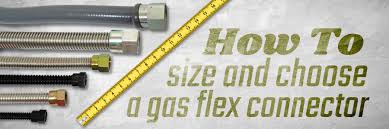Natural Gas Appliance Btu Chart How To Size A Gas Flex Connector