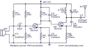 medium power fm transmitter circuit electronic circuits and Wiring Schematic Diagram 200m Fm Transmitter Simple Circuit fm transmitter circuit