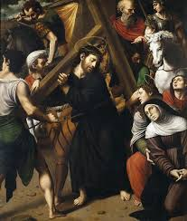 carrying cross painting christ carrying the cross by vicente juan masip