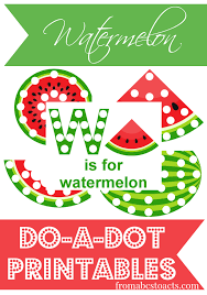 Watermelon Themed Printables and Crafts