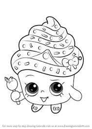 Small Picture Print Amazing Cupcake for Kids shopkins season 5 coloring pages