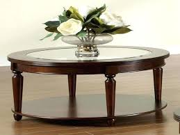 round coffee table with glass top coffee table genoa round wood coffee table with glass top