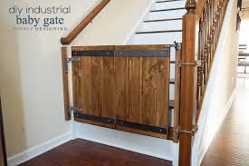industrial diy baby gate finished installed shown closed