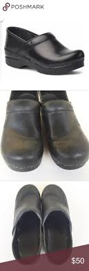 Dansko Cabrio Leather Black Clogs Size 40 Black Dansko