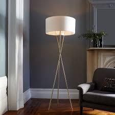 floor lamps lighting direct. mid century tripod floor lamp antique brass west elm lamps lighting direct