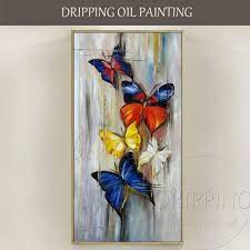 Long Size Hand-painted Abstract Butterflies Oil Painting on Canvas Handmade  Small Insect Abstract Butterfly … | Butterfly painting, Painting, Oil  painting on canvas