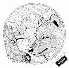 Wolf Coloring Pages Printable Unique Wolf Mandala Coloring Pages