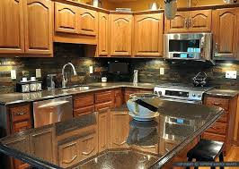 kitchen backsplash ideas with granite countertops black slate kitchen backsplash ideas black granite countertops