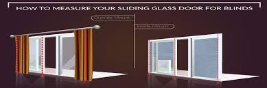 to measure sliding glass door for blinds
