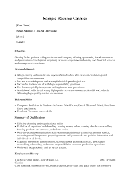 Excellent Resume Sample For Cashier Job Position With