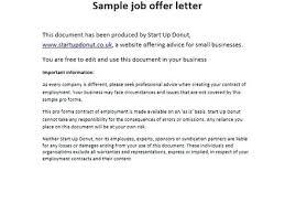 Startup Offer Letter Template